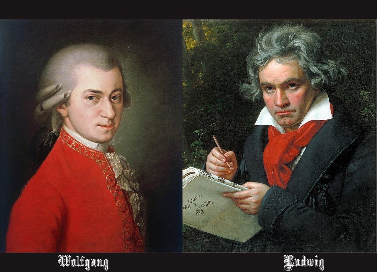 The most classic: Mozart and Beethoven